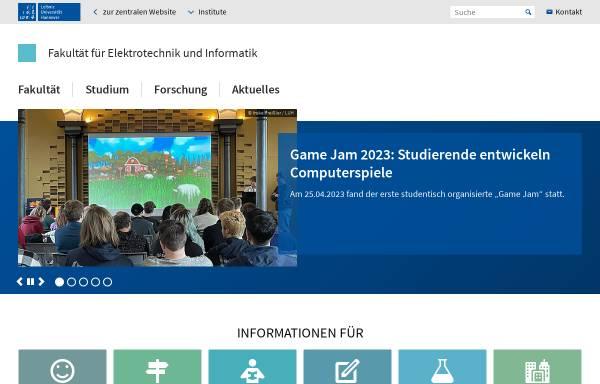 Vorschau von www.inf.uni-hannover.de, Bereich Informatik