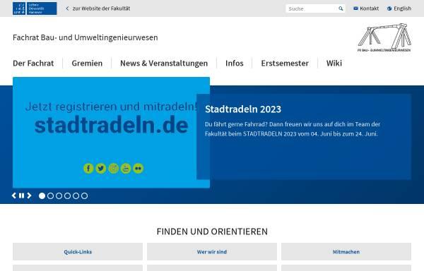 Vorschau von www.fsr-bau.uni-hannover.de, Fachschaft Bauingenieurwesen