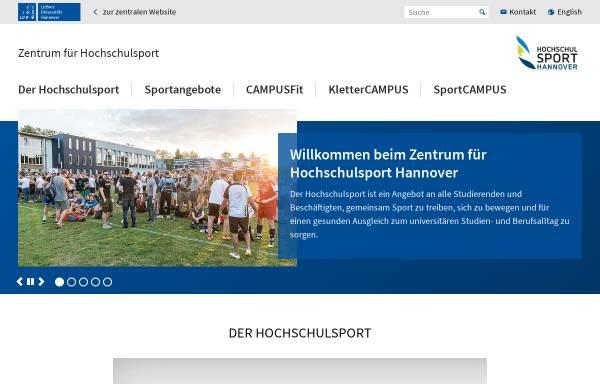 Vorschau von www.hochschulsport-hannover.de, Hochschulsport Hannover