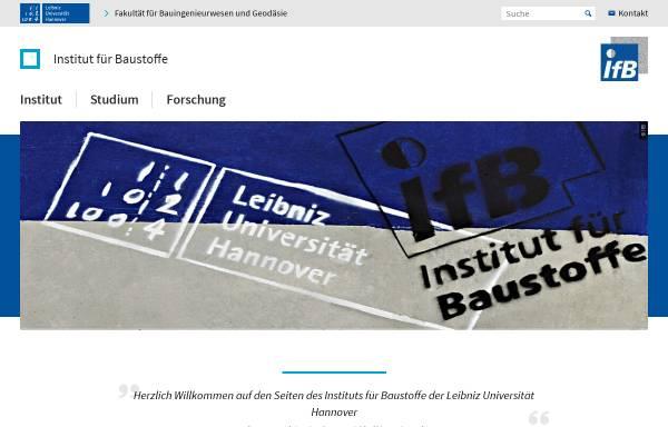 Vorschau von www.institut-fuer-baustoffe.de, Institut für Baustoffe