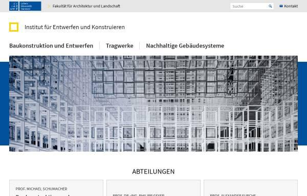 Vorschau von www.iek.uni-hannover.de, Institut für Entwerfen und Konstruieren