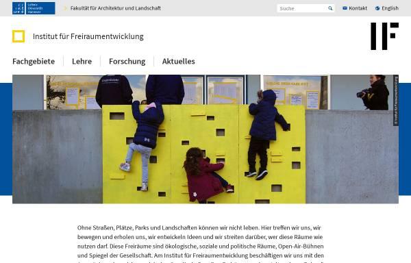 Vorschau von www.freiraum.uni-hannover.de, Institut für Freiraumentwicklung