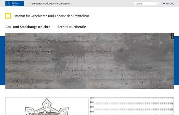 Vorschau von www.igt-arch.uni-hannover.de, Institut für Geschichte und Therorie der Architektur
