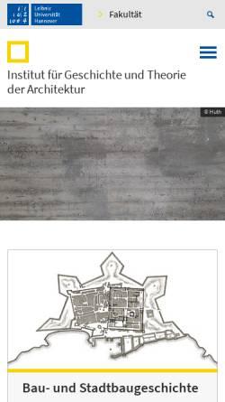 Vorschau der mobilen Webseite www.igt-arch.uni-hannover.de, Institut für Geschichte und Therorie der Architektur