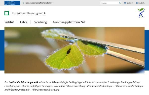 Vorschau von www.genetik.uni-hannover.de, Institut für Pflanzengenetik