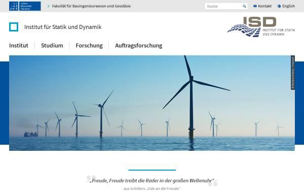 Vorschau von www.isd.uni-hannover.de, Institut für Statik und Dynamik