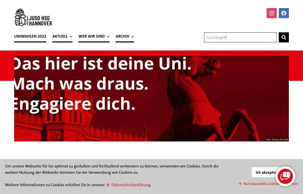 Vorschau von hsg-hannover.de, Jusos Hochschulgruppe Hannover