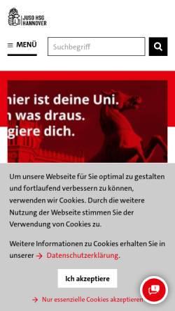 Vorschau der mobilen Webseite hsg-hannover.de, Jusos Hochschulgruppe Hannover