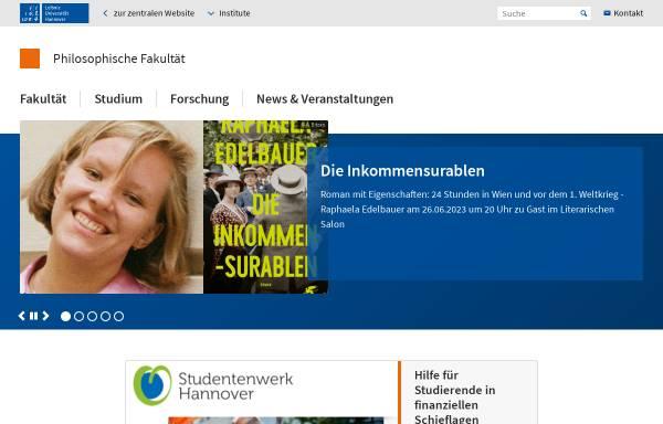 Vorschau von www.phil.uni-hannover.de, Philosophische Fakultät