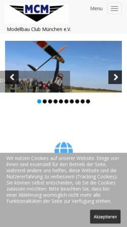 Vorschau der mobilen Webseite www.mcm-muenchen.de, Modellbau Club München e.V.