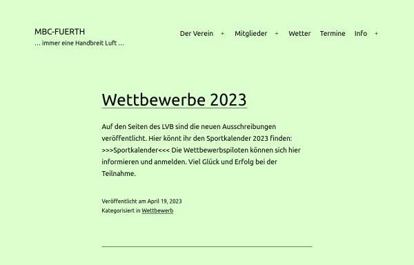 Vorschau von www.mbc-fuerth.de, Modellbauclub Fuerth