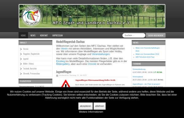 Vorschau von www.mfc-dachau.de, Modellfliegerclub Dachau