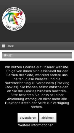 Vorschau der mobilen Webseite www.mfc-dachau.de, Modellfliegerclub Dachau