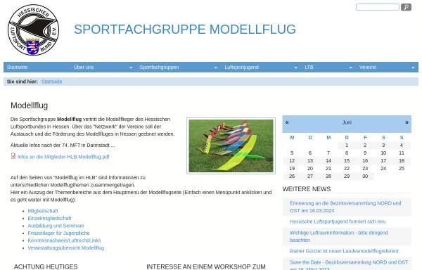 Vorschau von www.modellflug-im-hlb.de, Modellflug im Hessischen Luftsportbund (HLB)