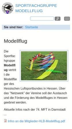 Vorschau der mobilen Webseite www.modellflug-im-hlb.de, Modellflug im Hessischen Luftsportbund (HLB)