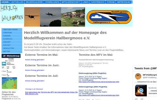 Vorschau von www.mfv-hallbergmoos.de, Modellflugverein MFV Hallbergmoos e.V.