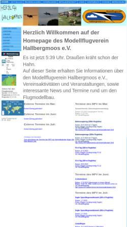Vorschau der mobilen Webseite www.mfv-hallbergmoos.de, Modellflugverein MFV Hallbergmoos e.V.