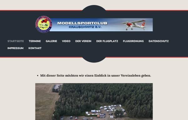 Vorschau von www.msckrauschwitz.de, Modellsportclub Krauschwitz e.V.