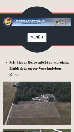 Vorschau der mobilen Webseite www.msckrauschwitz.de, Modellsportclub Krauschwitz e.V.