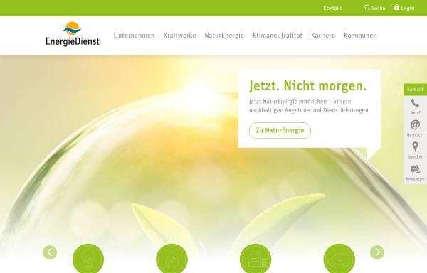 Vorschau von www.energiedienst.de, EnergieDienst AG