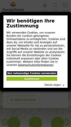 Vorschau der mobilen Webseite www.energiedienst.de, EnergieDienst AG