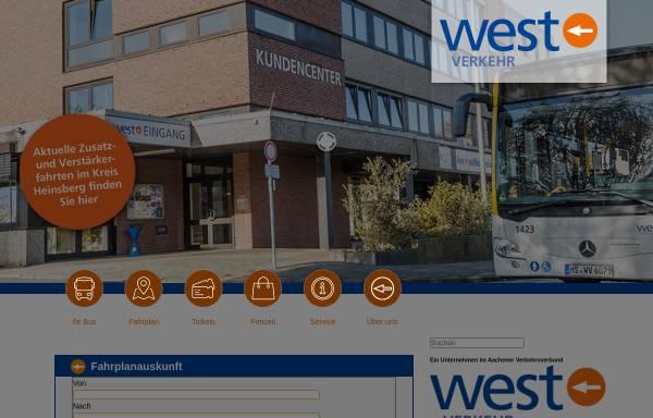 Vorschau von www.west-euv.de, WestEnergie und Verkehr GmbH