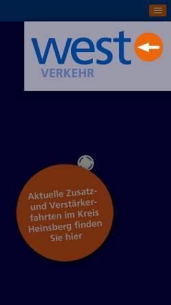 Vorschau der mobilen Webseite www.west-euv.de, WestEnergie und Verkehr GmbH