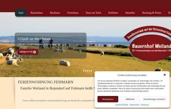 Vorschau von ferienwohnungfehmarn.net, Bauernhof Weiland