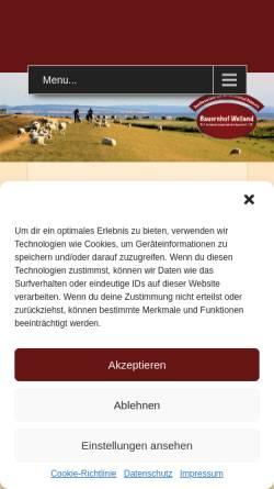 Vorschau der mobilen Webseite ferienwohnungfehmarn.net, Bauernhof Weiland