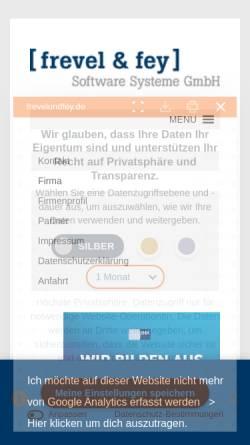 Vorschau der mobilen Webseite www.adware.de, Frevel & Fey Software Systeme GmbH