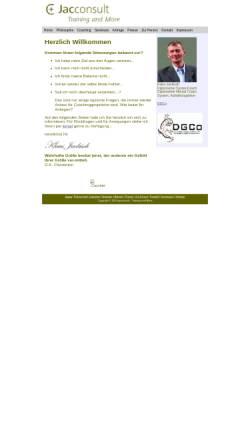 Vorschau der mobilen Webseite www.coachi-online.de, Jacconsult - Training and More