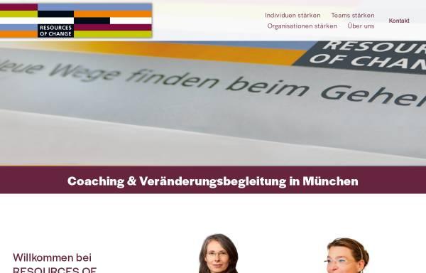 Vorschau von www.resourcesofchange.de, Resources of Change Institut