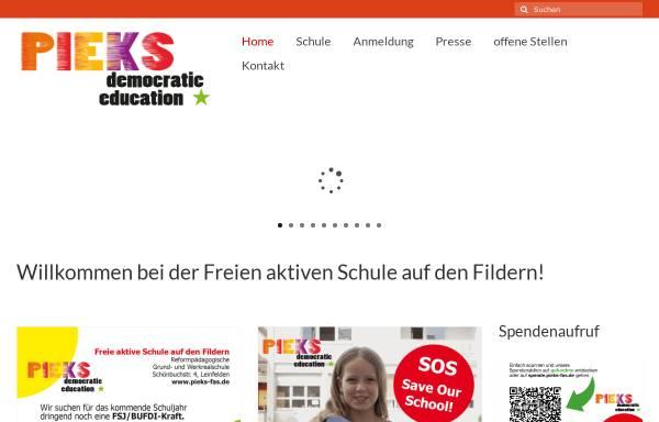 Vorschau von pieks-fas.de, PIEKS - Freie aktive Schule auf den Fildern