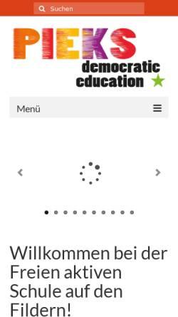 Vorschau der mobilen Webseite pieks-fas.de, PIEKS - Freie aktive Schule auf den Fildern