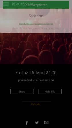 Vorschau der mobilen Webseite www.perkins-park.de, Perkins Park