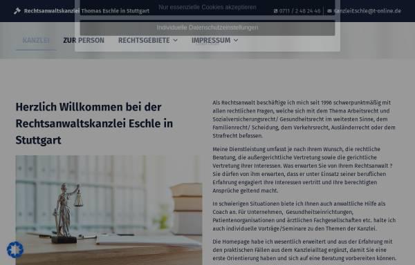 Vorschau von www.rechtsanwalt-eschle.de, Anwaltskanzlei Thomas Eschle
