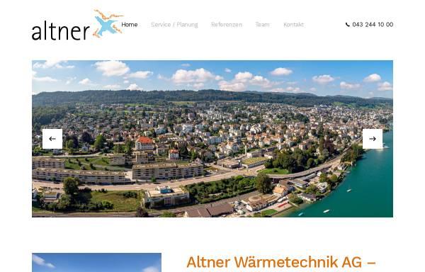 Vorschau von www.altner.ch, Altner AG Wärmetechnik