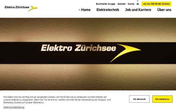 Vorschau von www.elektro-zuerichsee.ch, Elektro Zürichsee AG