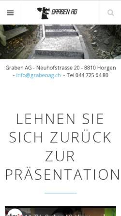 Vorschau der mobilen Webseite www.grabenag.ch, Graben AG