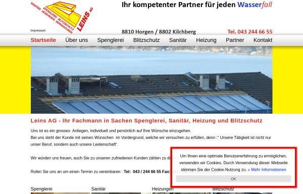 Vorschau von www.leinsag.ch, Leins AG