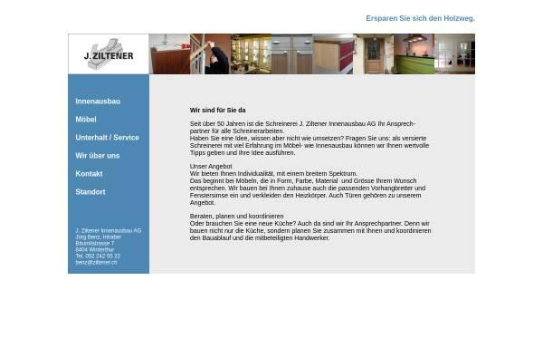 Vorschau von www.ziltener.ch, J. Ziltener Innenausbau AG