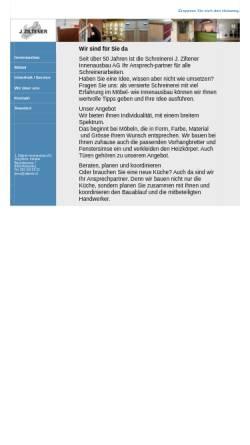 Vorschau der mobilen Webseite www.ziltener.ch, J. Ziltener Innenausbau AG