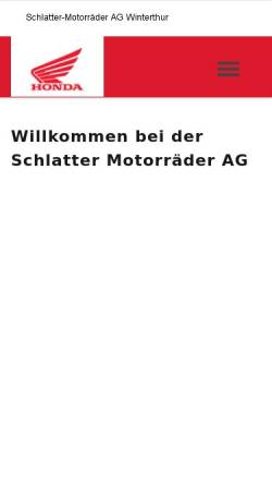 Vorschau der mobilen Webseite www.schlatter-motorrad.ch, Schlatter Motorräder AG