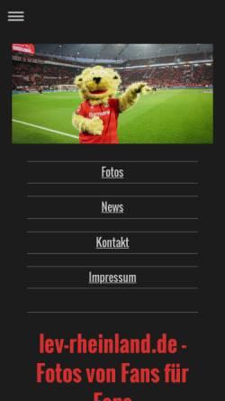 Vorschau der mobilen Webseite www.lev-rheinland.de, Lev Rheinland