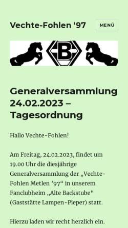 Vorschau der mobilen Webseite www.vechte-fohlen.de, Vechte-Fohlen Metelen 97