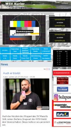 Vorschau der mobilen Webseite www.wsvkurier.de, WSV-Kurier