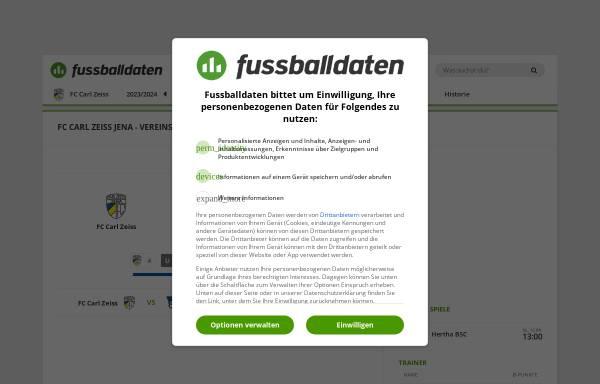Vorschau von www.fussballdaten.de, Fussballdaten.de