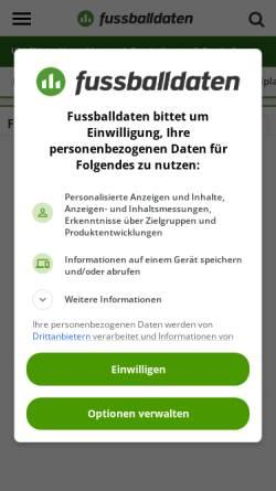 Vorschau der mobilen Webseite www.fussballdaten.de, Fussballdaten.de