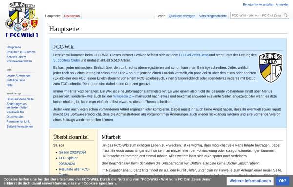 Vorschau von www.fcc-supporters.org, Hauptseite - FCC-Wiki