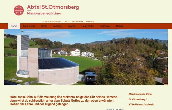 Vorschau von www.abtei-uznach.ch, Abtei St. Otmarsberg